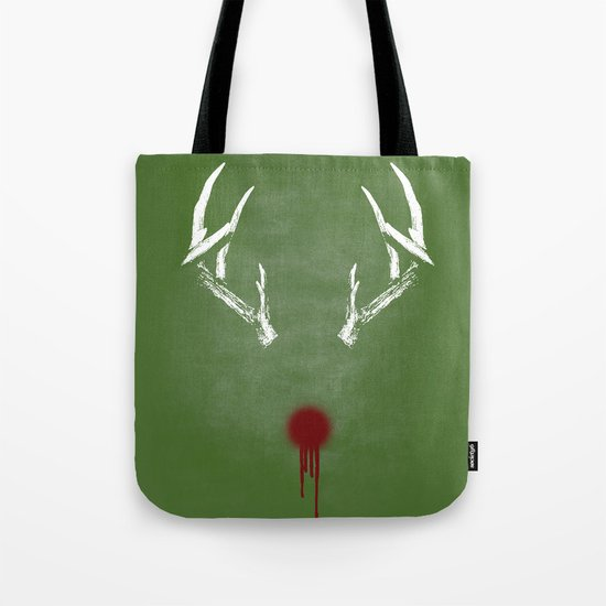 Rudolph the Bloody Nosed Reindeer Tote Bag