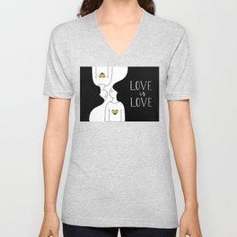 love is love - lesbians Unisex V-Neck
