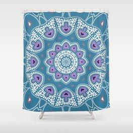 Mushroom Mandala Shower Curtain