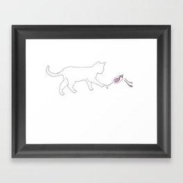 Drunk Cat Framed Art Print