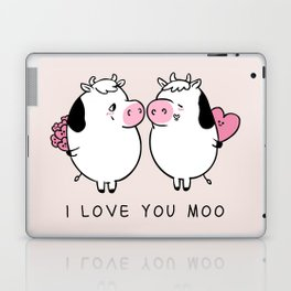 I Love You Moo Laptop & iPad Skin