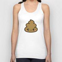 poop Tank Tops featuring Cutey poop by Holly