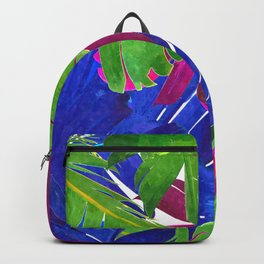 Colorful tropical leaves Backpack
