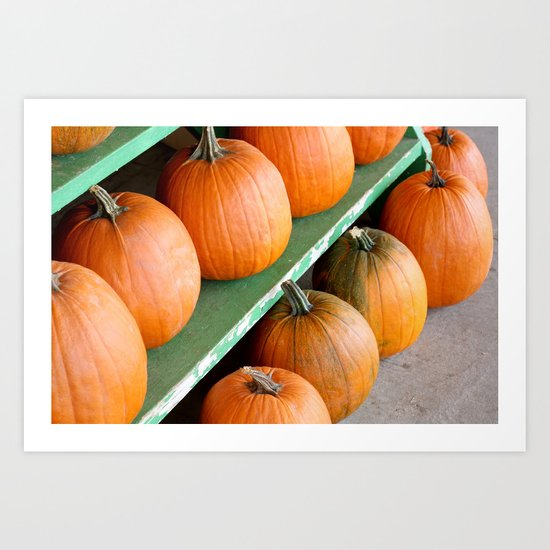 The Pumpkin Stand Art Print