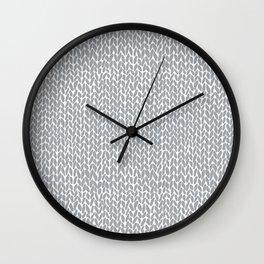 Hand Knit Light Grey Wall Clock
