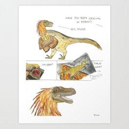 Jurassic Porn Art Print
