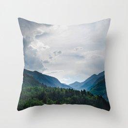 Telluride Mountains Throw Pillow