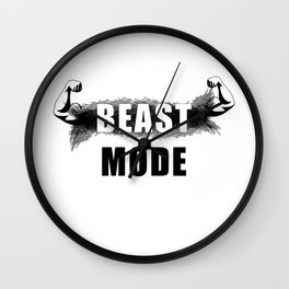 beast mode (black). Pure muscle power! Wall Clock
