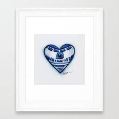 R2D2 Star Wars Heart Framed Art Print
