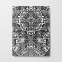 Black Krossa Abstract Metal Print