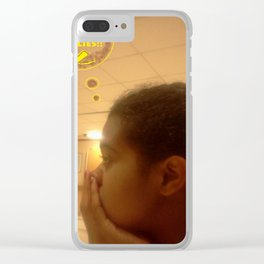 I Need Art Supplies: Brown & Yellow Clear iPhone Case