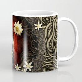 Red Hair with Flowers Coffee Mug