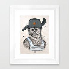 Russian Chewbacca Framed Art Print