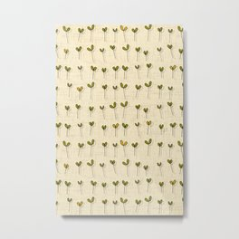 sprouts cream Metal Print