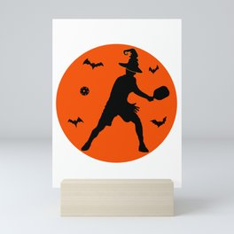 Halloween Pickleball Player Mini Art Print