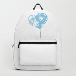 Melting Ice Heart Backpack