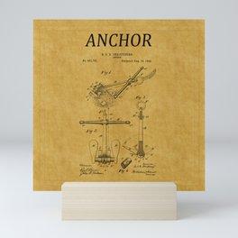 Anchor Patent 1 Mini Art Print