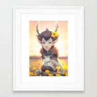 artgerm Framed Art Prints featuring Deer Princess by Artgerm™