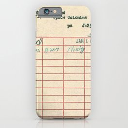 Library Card 797 iPhone Case