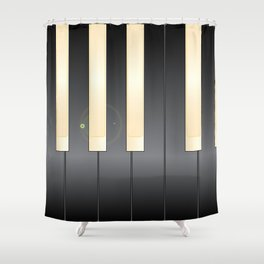 White And Black Piano Keys Shower Curtain