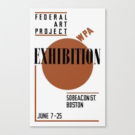 Federal Art Project WPA Exhibition Canvas Print