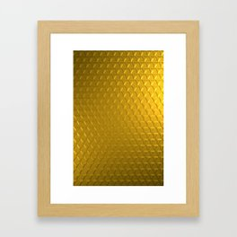 Golden honeycomb pattern Framed Art Print