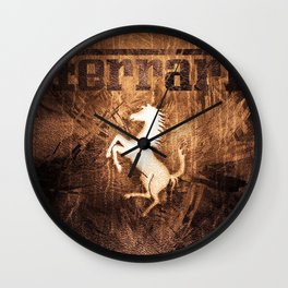 Skin Horse Wall Clock