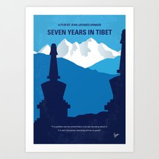 No559 My Seven Years in Tibet minimal movie poster Art Print