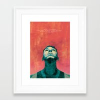 inner demons Framed Art Prints featuring Inner Demons by Shute Illustration