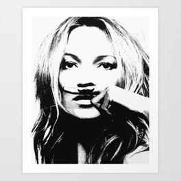 Kate Moss print, Fashion, Scandinavian, Wall Art, Minimal, Modern Art Print