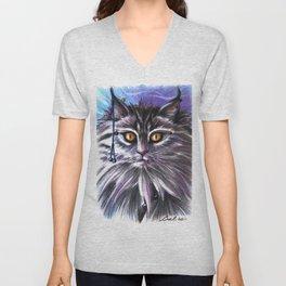 The cat Unisex V-Neck