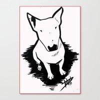 bull terrier Canvas Prints featuring bull terrier by sabrina.gennari