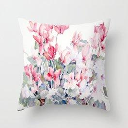 Cyclamen Throw Pillow