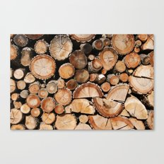Logs stock Canvas Print