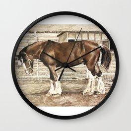 Draught Horse Wall Clock