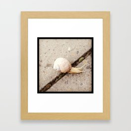 Mind the gap Framed Art Print