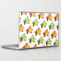 taco Laptop & iPad Skins featuring TACO TIME!  by Kaitlin Smith