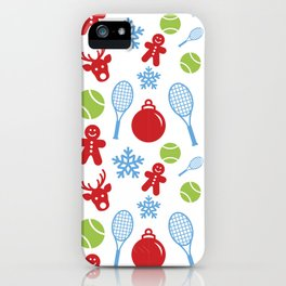 A Very Tennis Holiday iPhone Case