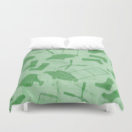 GARDEN TOOL KIT PATTERN Duvet Cover