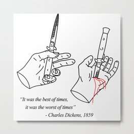 Luke Whitford Illustration of a Charles Dickens Quote Metal Print