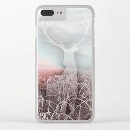 Frozen grass Clear iPhone Case
