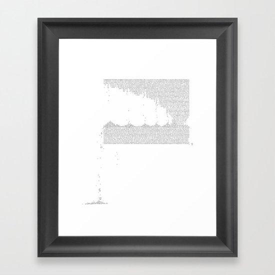 Erosion & Typography 3 Framed Art Print