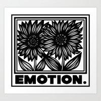 Gainor Sunflower Black and White Art Print