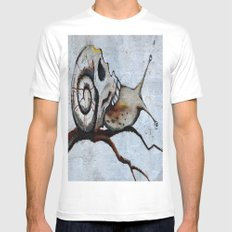 Snail Skull MEDIUM Mens Fitted Tee White
