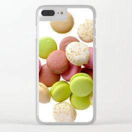 Multicolored macarons Clear iPhone Case