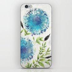 Dandelions Blue iPhone & iPod Skin
