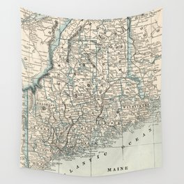 Vintage Map of Maine (1893) Wall Tapestry