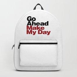 Go Ahead Make My Day Backpack