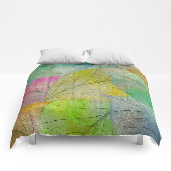 Pattern of Colorful Leaves Comforters
