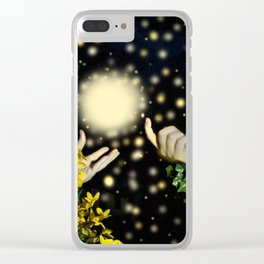 Hands Calling the Light Clear iPhone Case